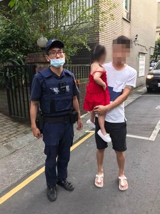 3歲女迷途 警載著沿路廣播「誰家小妹走失」找回家長