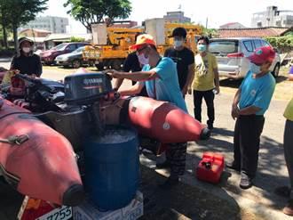 防汛期將至 南市消防局強化公所人員膠管筏操作