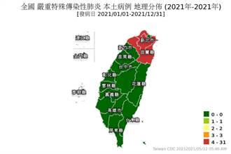 北台淪陷 本土確診地圖出爐 宜蘭由綠轉紅