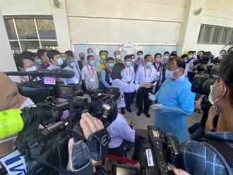 蘇貞昌視察全大運:防疫不升級 喊話全民為台灣守住亂世的福地