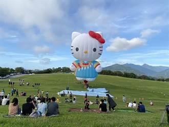 Hello Kitty熱氣球首飛僅開放500人 台東多項活動停辦