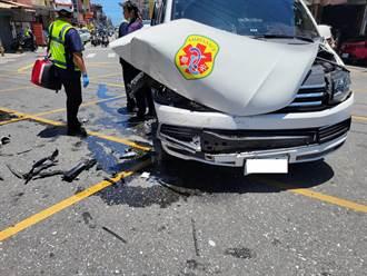 火神的眼淚真實上演 救護車執行任務闖紅燈遭撞