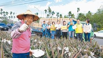 企業家送2萬斤鳳梨到馬祖