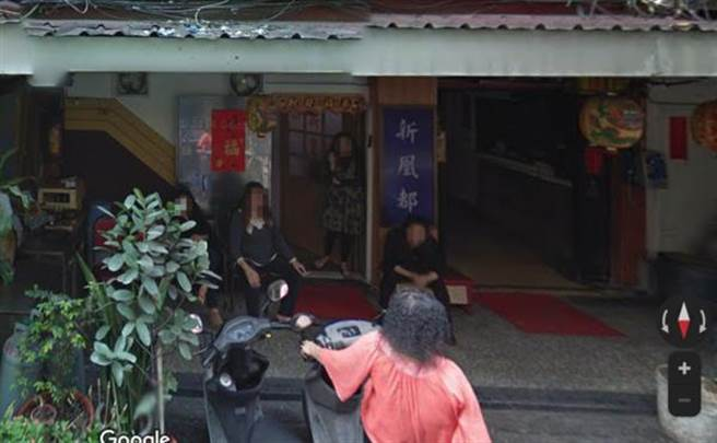 台北市萬華區三水街鴻達茶藝館的谷歌街景圖。(圖/翻攝Google Maps)