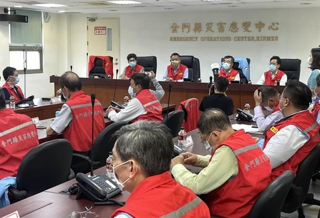 台灣疫情持續升溫,金門今天傍晚召開緊急因應會議。(縣府提供)