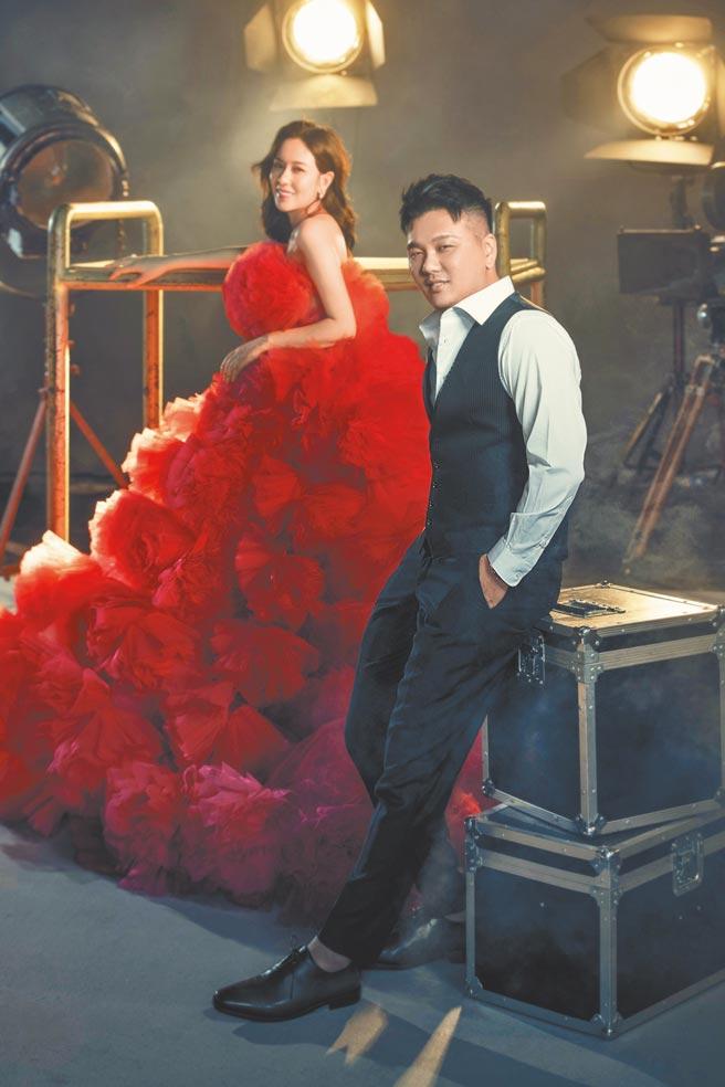 丁巧唯(左)與導演老公王鼎霖本周五婚禮因疫情升溫延期。(資料照片)