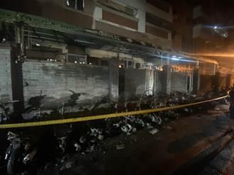 太惡質 台中19輛汽機車遭縱火焚毀 嫌躲公墓3小時內遭逮