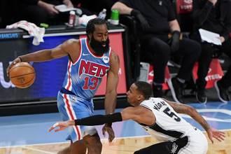 NBA》哈登復出三巨頭仍沒到齊 籃網照宰馬刺