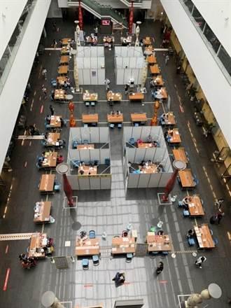 中市超前部署防堵疫情 重啟1樓聯合洽公區把關