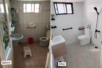 浴室改造翻新僅花2萬元!神人裝修DIY傳統衛浴變身現代極簡風