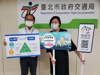 悠遊卡/悠遊付1280定期票加購共享機車方案 臺北市民獨享200元回饋