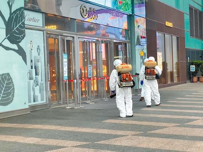遠東SOGO百貨復興館昨(12日)已主動提早閉館進行預防性消毒。(遠東SOGO百貨提供)