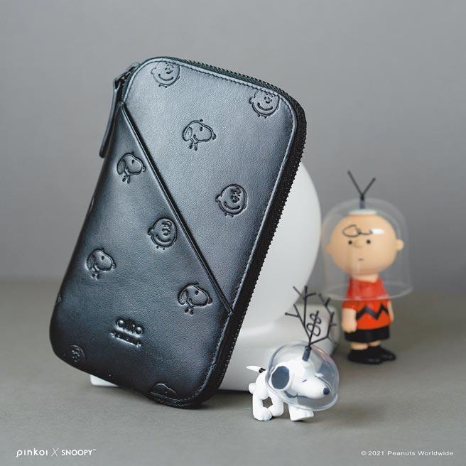 Alto Peanuts 聯名限定款,皮革手機收納包,原價3880元。(Pinkoi提供)