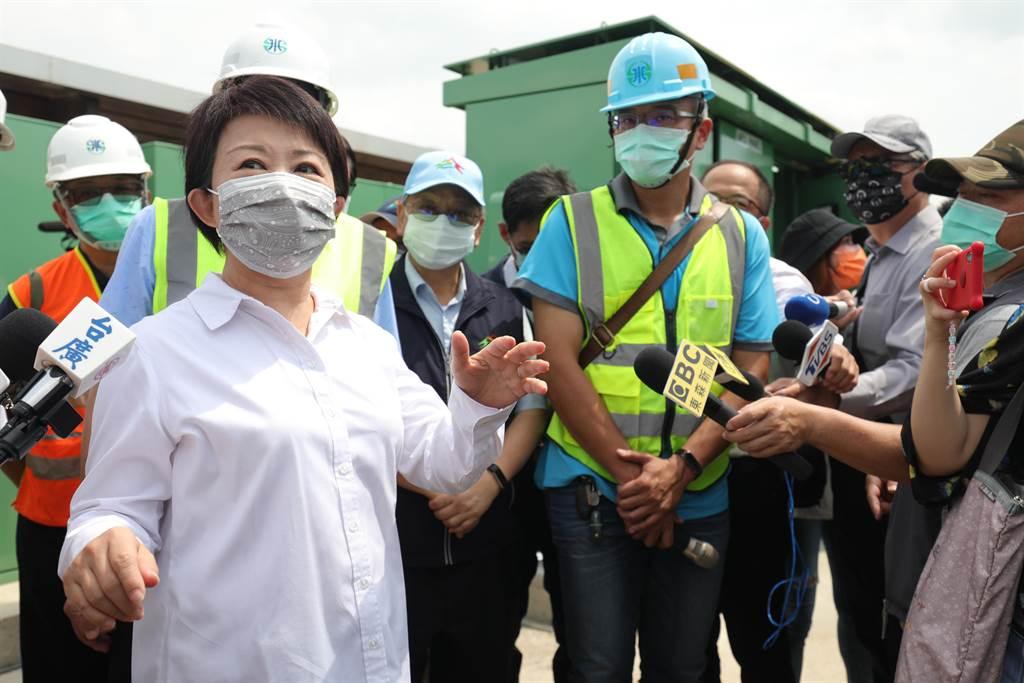 台中市長盧秀燕14日表示,市府配合經濟部水利署及水公司推動「抗旱2.0計畫」。(盧金足攝)