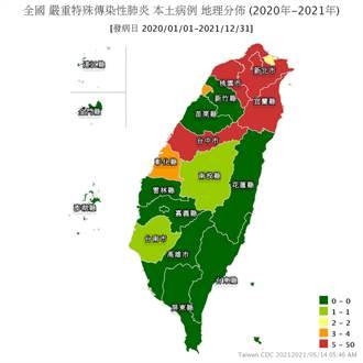 台灣72小時激增36本土個案 最新確診地圖曝光