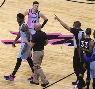 NBA》上來吵架的?熱火老將本季初登板就遭驅逐