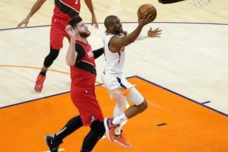 NBA》布克致勝兩罰 太陽敲醒拓荒者晉級季後賽美夢