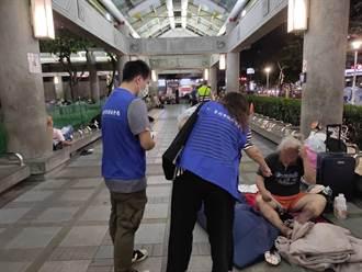 萬華區4街友疑似「上呼吸道感染」已採檢