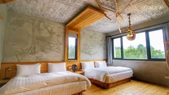 清水模與原木 日月潭旁像家一般的日式民宿內每扇窗都是風景