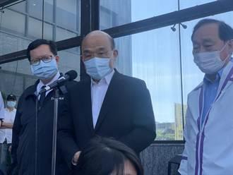 蘇貞昌視察桃園防疫旅館 呼籲民眾物資充足不必搶購