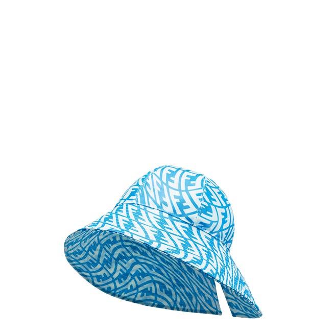 Fendi Vertigo系列藍色寬沿帽2萬2800元。(Fendi提供)
