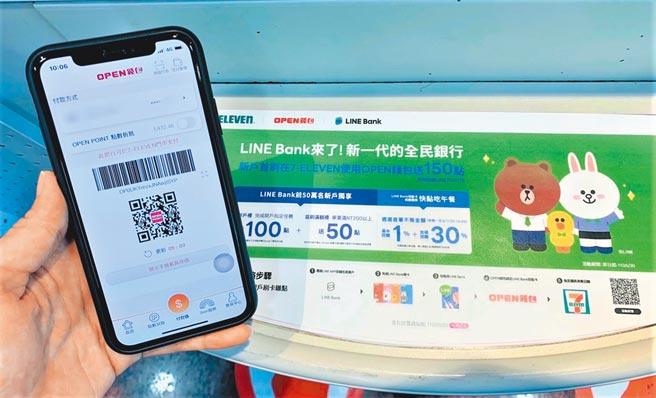 7-11推出OPEN錢包 X LINE Bank跨通路消費滿額雙贈點。(7-11提供)