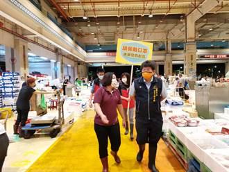 中市農業局全力圍堵疫情  稽查農產批發市場防疫