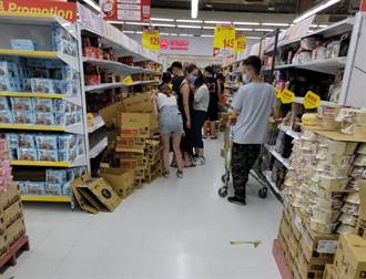 新竹巨城不見人潮 疑轉戰大賣場囤泡麵衛生紙