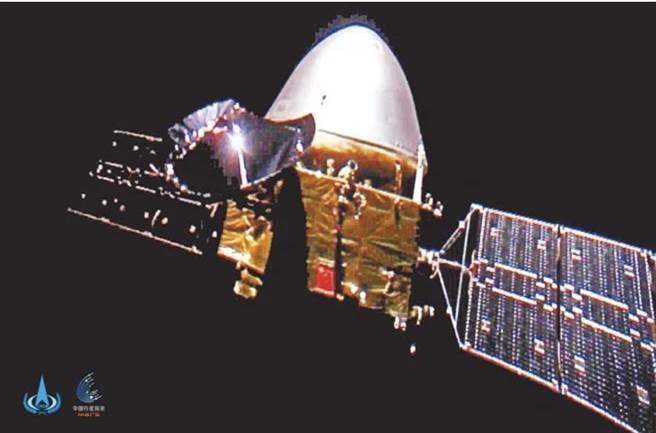 陸天問一號探測器成功降落火星。(圖/新華社)