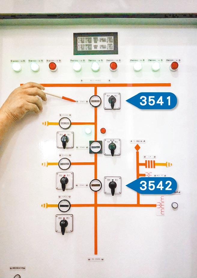 513大停電證實是台電人為疏失,因按錯編號3541隔離開關,導致興達電廠機組跳脫,當時2座煙囪冒出濃密的白煙與黑煙,還發出「沙沙」巨響。(林雅惠攝)