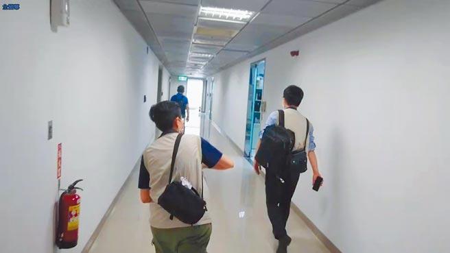 新竹地檢署13日兵分三路搜索台元科技園區內,一處由通富微電子公司私設的研發及業務中心。(翻攝照片/莊旻靜新竹傳真)