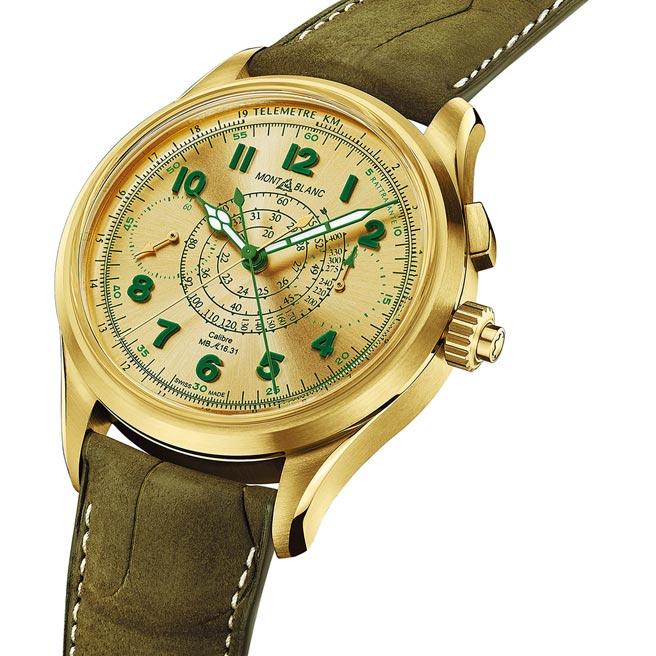 萬寶龍1858系列追針計時腕表限量款18,147萬7000元。( Montblanc提供)
