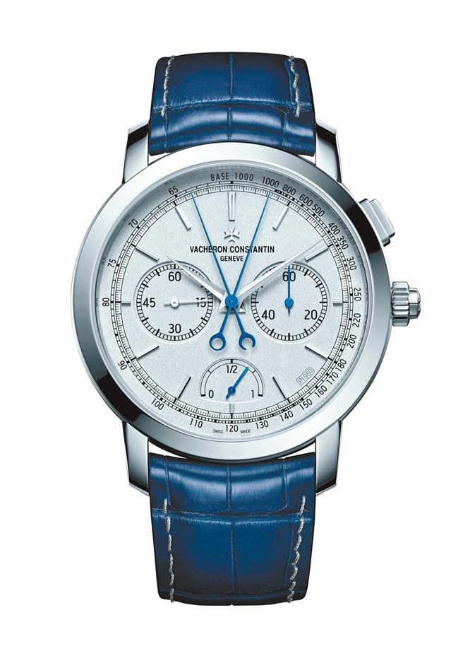 江詩丹頓Traditionnelle超薄雙秒追針計時碼表,全球限量15只。(江詩丹頓提供)