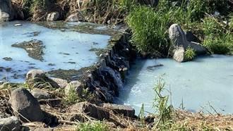 獨》快乾枯了還排廢水汙染 旱溪豐原段驚變牛奶河
