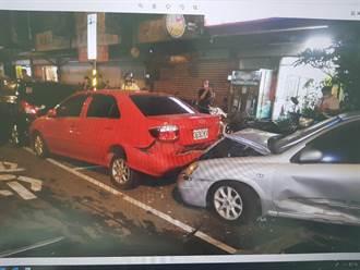 20歲男子未禮讓直行車 失控衝撞路邊車輛