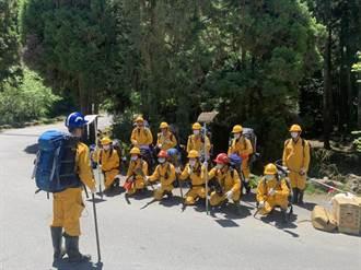 杜鵑營地森林大火 嘉義林管處人員抵達南營地