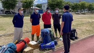6人登山隊行馬博橫斷縱走 6旬男跌落山谷小腿骨折