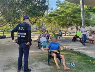 永康探索公園傳長者群聚未戴口罩 警方前往勸導