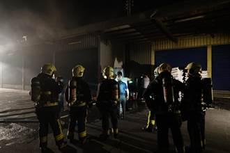 疑室外機冒煙起火 宜蘭市醬油工廠火警無人傷亡