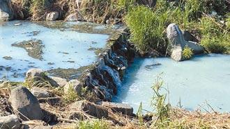 台中旱溪豐原段驚變牛奶河 疑住戶排生活汙水