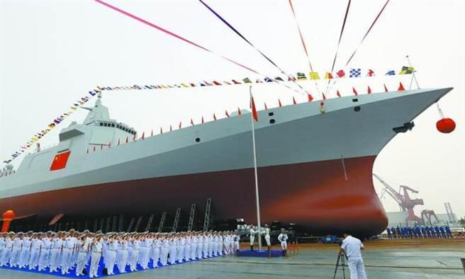 中共055型驅逐艦被譽為目前全球最強的水面戰艦,目前已有3艘服役。(圖/新華社)