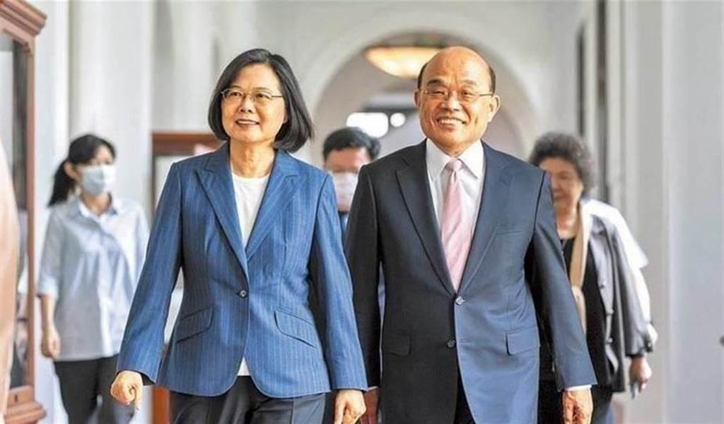 總統蔡英文(左)、行政院院長蘇貞昌(右)。(總統府提供/資料照片)