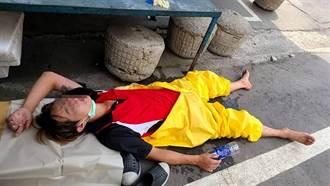 清潔員消毒「包到只剩眼睛」中暑倒路邊 民眾淚崩超心疼