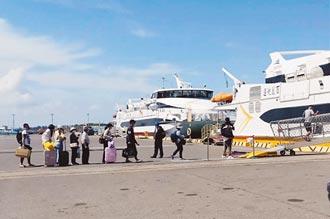 布袋馬公海上航線 退票逾6成