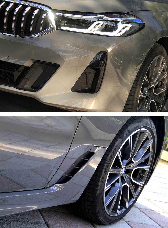 雖然是M Sport車型,但主要都是以提升空氣動力為主的外觀升級,並未配置M Sport避震器,因此對於舒適不會有任何的減損,630i GT M Sport處理不平路面的回饋,完全不會有高頻率跳動的現象,也不會有類似七系列稍偏船行般的搖晃感,加上挺優的側傾抑制,仍算屬於運動化的反應。而車尾配置的主動式擾流尾翼,可在車輛時速達到120 km/h主動升起,提高車尾下壓力表現強化車輛高速行駛時的穩定性。