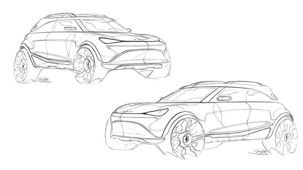 放大版的 Smart 電動休旅車首度曝光官方設計圖,預計九月發表、明年上市