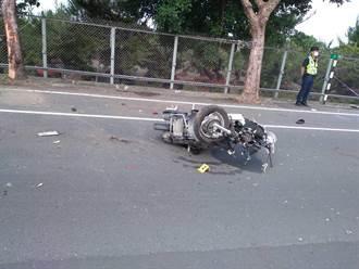 苑里机车骑士疑酒驾 高速衝撞路树当场死亡