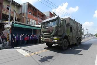 化學兵進駐彰化全縣大清消 縣長感謝國軍贈加菜金