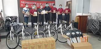 熱心義消 號召贈少年之家單車、羽球組