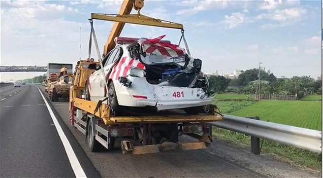 陸姓大貨車司機連開22天車,2018年4月23日打瞌睡發生車禍,撞死2名國道警及1名司機,過勞問題引發社會關注。(本報資料照片)